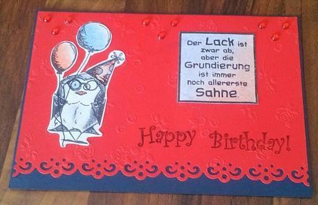Eine leicht schräge Geburtstagskarte