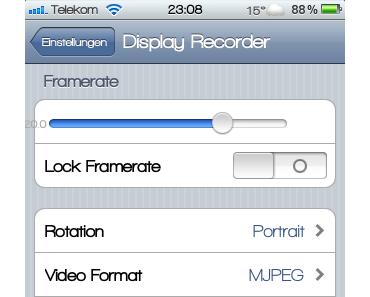 [Cydia] Mit Display Recorder den Bildschirm des iPhones aufnehmen