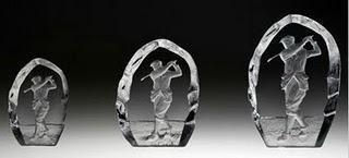Golf Souvenirs aus dem schwedischen Glasreich