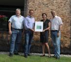 Erste offizielle Zertifikatübergabe der CO2-Bank Schweiz