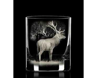Produkt der Woche - Wildmotive auf Hand gravierten Whiskygläsern