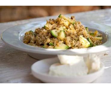 Za'atar Reis mit Zucchini und Feta Käse