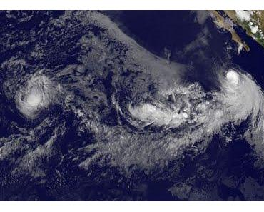 Allgemeine Situation Atlantik und Pazifik am 18. August 2011