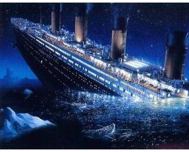 Die Titanic wird untergehen und untergehen