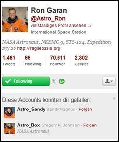 Ich folge Astro-Ron