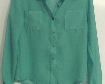 Green Sheer Blouse.