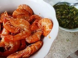 Thai BBQ Garnelen mit Dip Nam Jim Talee - Thai BBQ Prawns with Dip Nam Jim Talee