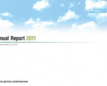 Toyota Motor Corporation veröffentlicht Geschäftsbericht 2011