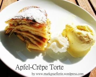 Apfel-Crêpe-Torte