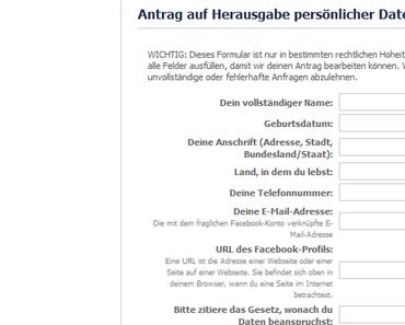 Daten anfordern und Facebook ärgern