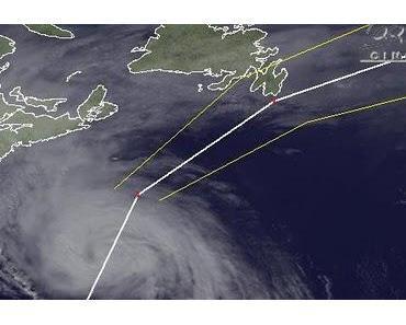 Hurrikan OPHELIA wird schneller, schwächer und zieht ab morgen Richtung Europa