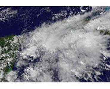 Nanu, wo ist denn Cancún? - Schlechtwettergebiet vor Riviera Maya auf Yucatán