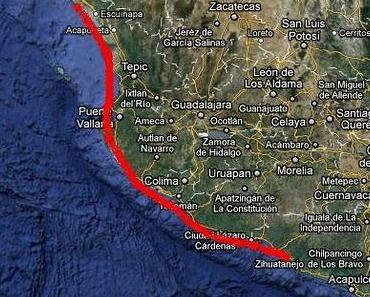 Mexiko Pazifikküste: Potenzieller Hurrikan JOVA ab Anfang nächster Woche erwartet