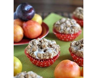 Pflaumen-Muffins mit Zimtstreuseln