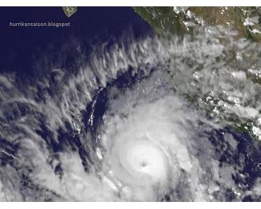 JOVA kommt als starker Hurrikan nach Jalisco (Manzanillo) und Nayarit (Puerto Vallarta), Mexiko - erste Sturmwarnung und Hurrikanwarnung aktiviert