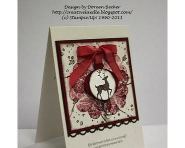 """Weihnachtskarte """"Stolzer Hirsch"""""""