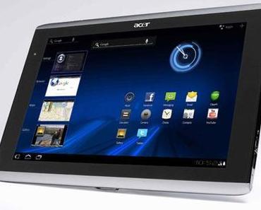 Auch Acer Iconia A500 und A100 erhalten Android 4.0 Ice Cream Sandwich-Update.