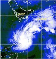 Indischer Ozean / Arabisches Meer: Deep Depression ARB02 an der Grenze zwischen Oman und Jemen