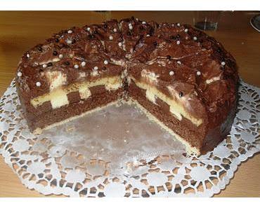 Vanille-Schokomousse Torte (Dr. Hall Kochwettbewerb)