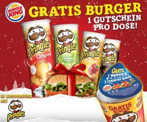 Gratis Burger bei Burger King dank Pringles-Aktion