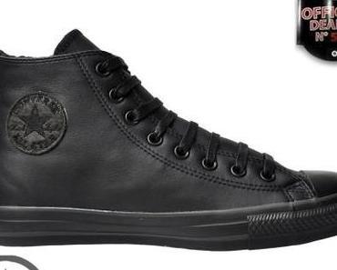 #Converse Schuhe Chuck Taylor All Star Winter Chucks 127934 C Leder #Schwarz Black Mono HI schwarz gefüttert !