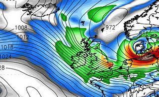 Orkan / Hurrikan über Deutschland am 5. Dezember 2011 zu erwarten