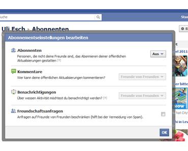 Facebook: Abonnements deaktivieren