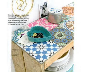 diy-küchenregal mit bunten fliesen. über den blog zowieso...