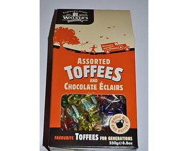 Walkers Assorted Toffees and Chocolate Éclairs und Butlers Honeycomb Crisp Chocolates & Mandarin Truffles