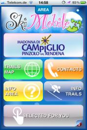 SkiMobile – auf dem iPhone für alle Val Rendena Fans und Madonna di Campiglio Interessierten