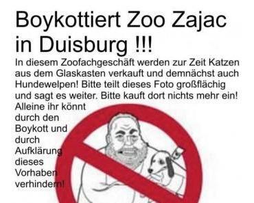 """DEMO"": Gemeinsam gegen Zoo Zajacs Welpenverkauf"