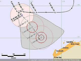 Tropischer Sturm IGGY vor Australien wird wahrscheinlich ein Hurrikan