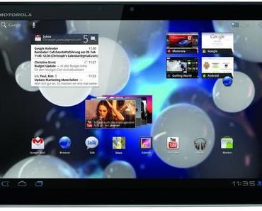 Motorola verkauft 1 Million Tablets im Jahr 2011.