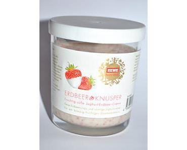 Rewe Feine Welt Erdbeer Knusper und Harrisons Mini Milk Pillows