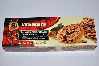 Walkers Belgian Chocolate Chunk Biscuits, Italian Lemon & Wihte Chocolate Biscuits, Dark Chocolate Ginger Royals Shortbread und Pure Butter Butterscotch Shortbread Rings