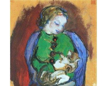 Franz Marc, Mädchen mit Katze