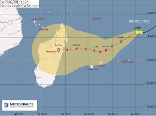 Tropischer Sturm 12S (pot. Hurrikan GIOVANNA) bedroht Madagaskar
