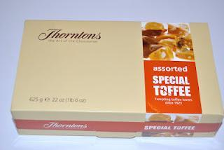 Thorntons Assorted Special Toffee, Special Toffee Banana Flavour und Chewy Toffi-Chocs