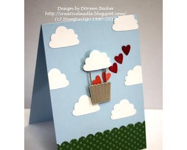 Valentinskarte mit Ballon