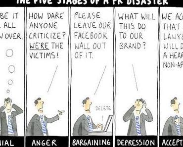 Die 5 Stufen eines PR-Desasters [Cartoon]