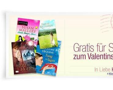 Amazon Valentinstags-Special: 4 kostenlose Kindle eBooks als Valentinstags-Geschenk.