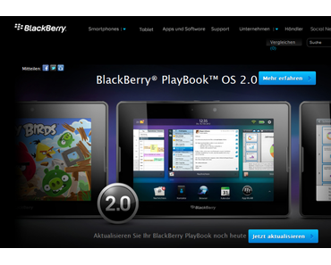 Blackberry Playbook OS 2.0 ist gelandet!