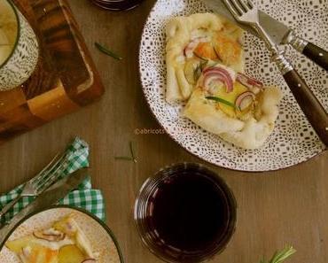 """Pizza mit goldgelber Linda und Taleggio zum """"casual thursday"""""""