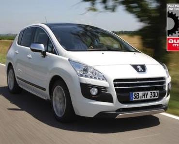Peugeot 3008 Hybrid4 wurde mit dem Paul-Pietsch-Preis 2012 ausgezeichnet