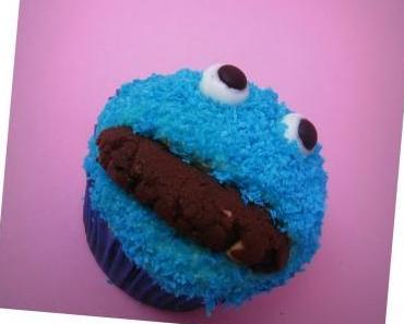 Krümelmonster Cupcakes (vegan)