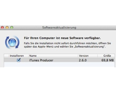 iTunes Producer in Version 2.6.0 verfügbar