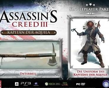 ASSASSIN'S CREED – 3 – UBISOFT  ENTHÜLLT DIE COLLECTORS EDITIONEN