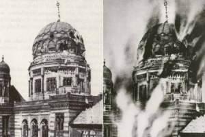 Die Reichskristallnacht – Das Bild der brennenden Synagoge, ein gefälschtes Feuer!