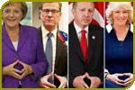 Seltsame Handzeichen von Politikern