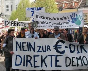 Erfolgreiche Demonstration gegen den ESM in Karlsruhe